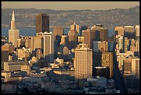 San Francisco skyline from Twin Peaks, late afternoon. San Francisco, California, USA ( color)