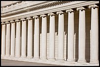 Columns, California Palace of the Legion of Honor. San Francisco, California, USA (color)