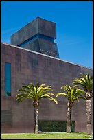 Hamon Tower and M H De Young memorial museum. San Francisco, California, USA (color)