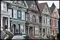 Row of elaborately decorated victorian houses. San Francisco, California, USA ( color)