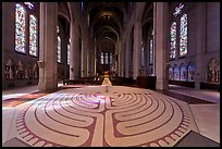 Labyrinth inside Grace Cathedral. San Francisco, California, USA ( color)