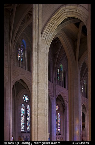 Detail of gothic-style vaulted arches, Grace Cathedral. San Francisco, California, USA (color)
