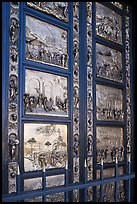 Ghiberti doors called Gates of Paradize, Grace Cathedral. San Francisco, California, USA (color)