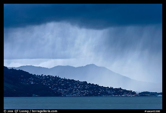 Storm clouds across the San Francisco Bay. California, USA (color)