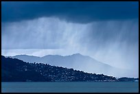 Storm clouds across the San Francisco Bay. California, USA ( color)