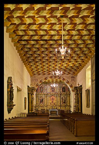 Interior of the Mission Dolores Chapel. San Francisco, California, USA (color)