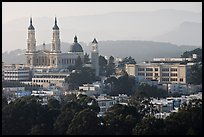 USF buildings and Saint Ignatius Church. San Francisco, California, USA ( color)