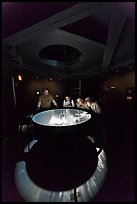 Tourists look at moving image of ocean inside the Camera Obscura, Cliff House. San Francisco, California, USA ( color)