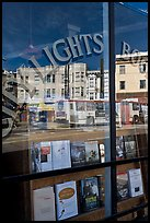 City Light Bookstore storefront with street reflections, North Beach. San Francisco, California, USA ( color)
