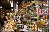 Italian grocery store interior with customers, Little Italy, North Beach. San Francisco, California, USA ( color)