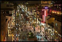 Third Street Promenade by night. Santa Monica, Los Angeles, California, USA ( color)