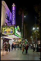 Criterion Movie theater at night, Third Street Promenade. Santa Monica, Los Angeles, California, USA ( color)