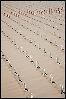 Arlington West memorial crosses. Santa Monica, Los Angeles, California, USA ( color)