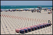 Arlington West Iraq war memorial, Santa Monica beach. Santa Monica, Los Angeles, California, USA (color)