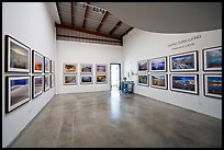 Photographic exhibition in gallery, Bergamot Station. Santa Monica, Los Angeles, California, USA ( color)