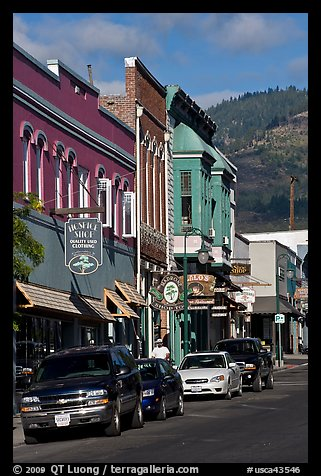 Historic buildings, Yreka. California, USA (color)