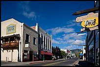 Old town main street, Yreka. California, USA (color)