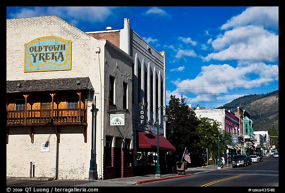 Old Town, Yreka. California, USA (color)