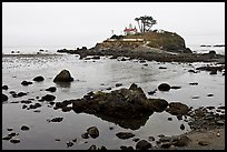Battery Point Lighthouse on semi-islet, Crescent City. California, USA ( color)
