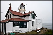 Battery Point Lighthouse, Crescent City. California, USA (color)