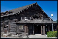 Historic building made of redwood, Scotia. California, USA (color)