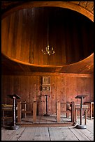 Inside chapel, Fort Ross Historical State Park. Sonoma Coast, California, USA