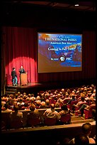 Dayton Duncan and Ken Burns present new  film, Cowell Theater, Fort Mason Center. San Francisco, California, USA ( color)