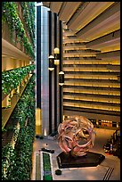 Atrium, Hyatt Grand Regency. San Francisco, California, USA ( color)
