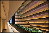 Hyatt Grand Regency hotel interior. San Francisco, California, USA (color)