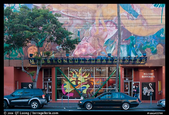 Mission cultural center, Mission District. San Francisco, California, USA (color)
