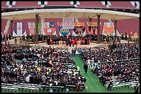 Beginning of commencement ceremony. Stanford University, California, USA ( color)