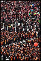Dense rows of graduating college students in academic heraldy. Stanford University, California, USA ( color)