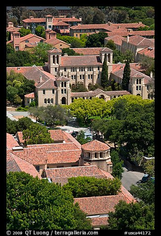 Campus seen from above. Stanford University, California, USA (color)