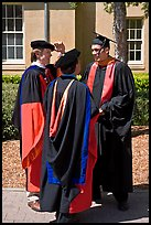 Academics in traditional dress. Stanford University, California, USA ( color)
