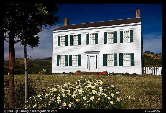 The White House of Half Moon Bay, James Johnston Homestead. Half Moon Bay, California, USA