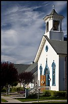 White church. Half Moon Bay, California, USA ( color)