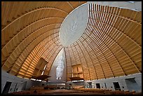 Worship space in vesica pisces shape, Cathedral of Christ the Light. Oakland, California, USA ( color)