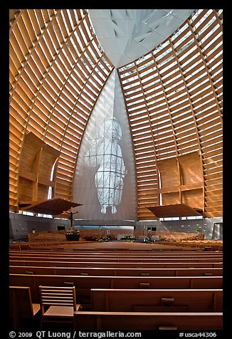 Image of Christ the Light, Oakland Cathedral. Oakland, California, USA (color)
