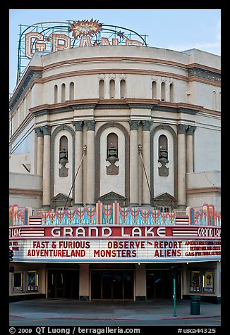Grand Lake theater. Oakland, California, USA (color)