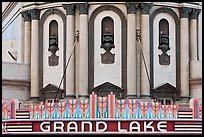 Detail of art deco facade, Grand Lake theater. Oakland, California, USA ( color)