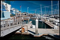Marina, Jack London Square. Oakland, California, USA (color)