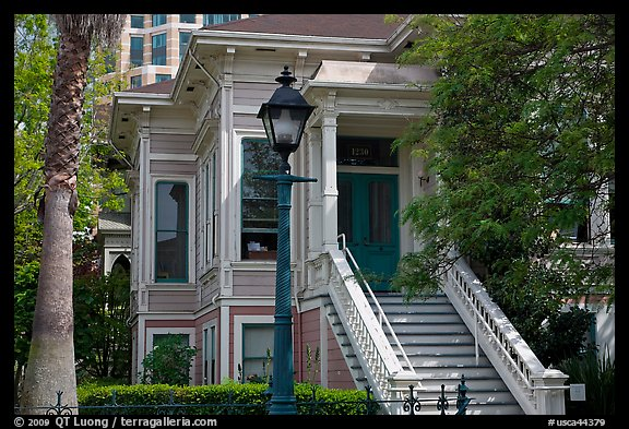 Historic house, Preservation Park. Oakland, California, USA (color)