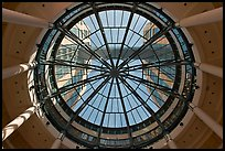 Looking up dome of atrium, Federal building. Oakland, California, USA ( color)