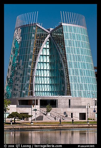 Cathedral of Christ the Light on Lake Merritt shores. Oakland, California, USA (color)