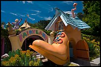 Entrance of Fairyland. Oakland, California, USA (color)