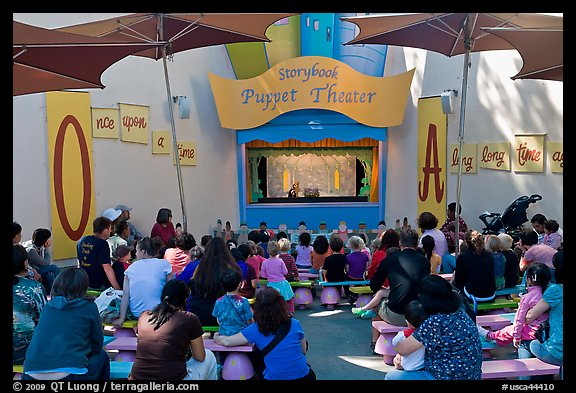 Storybook Puppet theater, Fairyland. Oakland, California, USA (color)