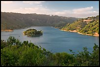 Lake Chabot reservoir, late afternoon. Oakland, California, USA ( color)