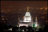 Church of Jesus Christ of LDS by night. Oakland, California, USA ( color)