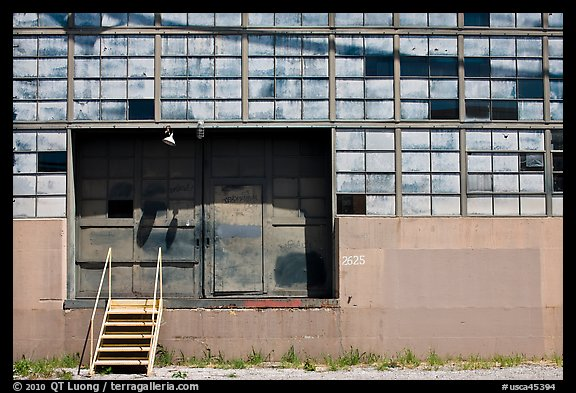 Warehouse and loading dock doors. Berkeley, California, USA (color)
