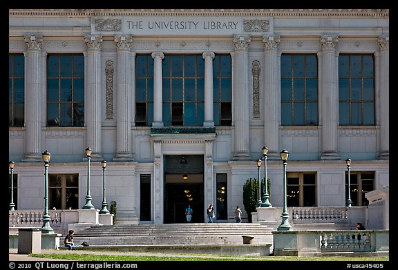 University Library, CAL. Berkeley, California, USA (color)